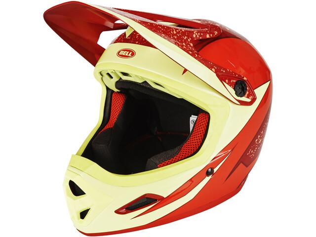 Bell Transfer-9 Fullface Helm red/marsala viper